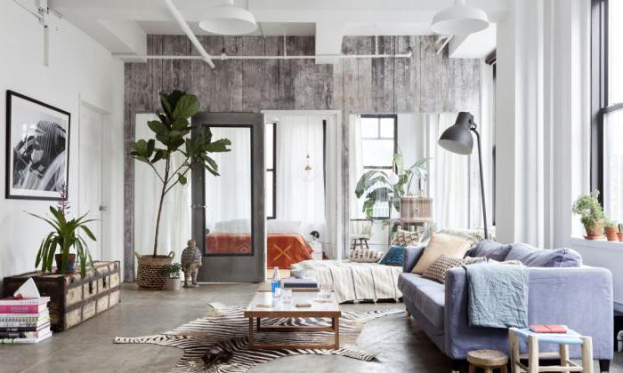 Stile boho moderno all'interno