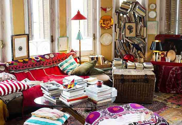 Stile Boho all'interno