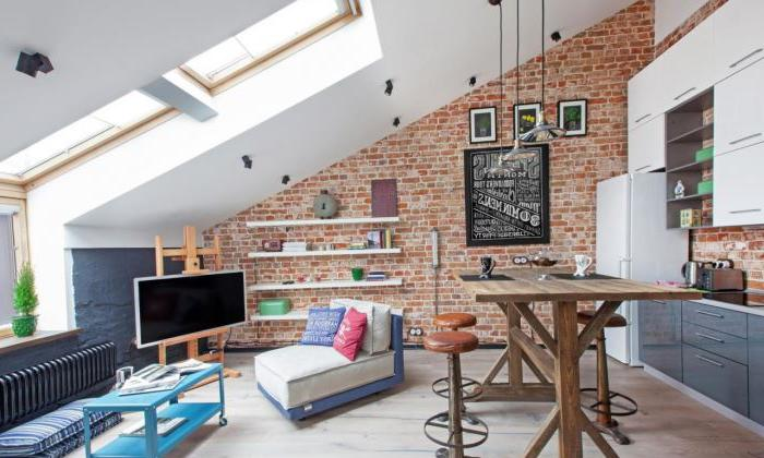 Stile loft all'interno del piano attico