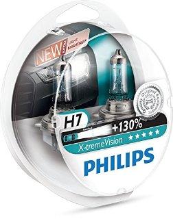 Philips 12972XV+S2 X-treme Vision Lampada alogena H7, 12V 55W, 130% di luce in più, 40% più bianca