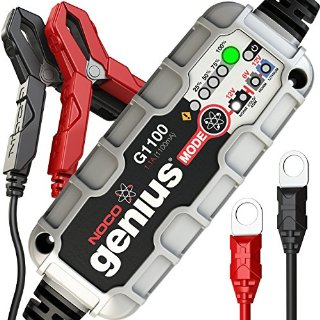 Noco G1100EU Genius Caricabatteria Smart, 6 V/12 V, 1.1 A, ottimizzato per batterie Start-Stop con tecnologia AGM ed EFB