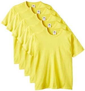 Fruit of the Loom - Heavy Cotton Tee Shirt 5 pack, T-shirt da uomo
