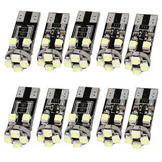 Lampadine laterali canbus senza errori 8 SMD LED bianchi W5W T10 501 (confezione da 10)