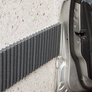 Mondaplen Wall Bumper: Paracolpi Garage, Strisce Adesive Ammortizzanti per le Pareti del Box Auto (set da 2 strisce) Ciascuna 1,4m x 17 cm: colore Nero.