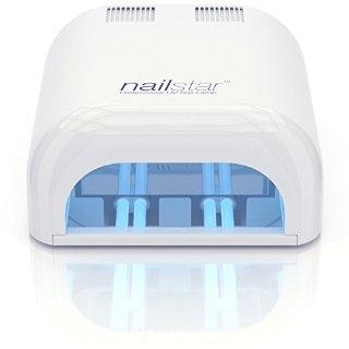 NailStar™ Professional Lampada UV Asciuga Smalto (36 Watt) con Timer da 120 e 180 Secondi per metodi curativi Shellac e Gel. Include 4 x Lampadine da 9W