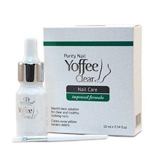 Yoffee Clear - Soluzione Anti-Fungina,per la micosi delle unghia delle mani e dei piedi.Con olio di Argan e Tea Tree,Antibatterico.10ml