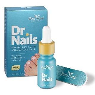 Belle Azul Dr. Nails - Formula anti-fungina per unghia danneggiate,scolorite.e con micosi.Ridona un aspetto sano alle unghia. Arricchito con olio di Argan, Tea Tree e Chiodi di Garofano per unghia sane e forti. 10ml /0.34 floz