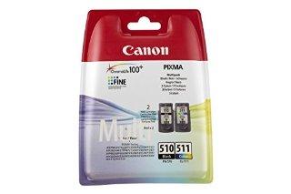 Canon 2970B010AA Confezione 2 Serbatoi Inchiostro PG-510/CL-511, Nero/Colore