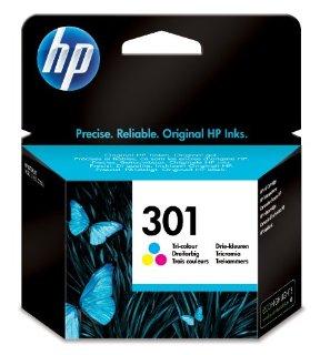 HP CH562EE Cartuccia Inkjet 301, Ciano/Magenta/Giallo