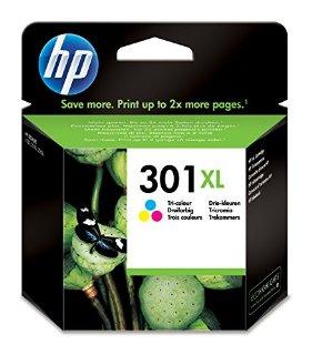 HP CH564EE Cartuccia Inkjet 301XL, Ciano/Magenta/Giallo