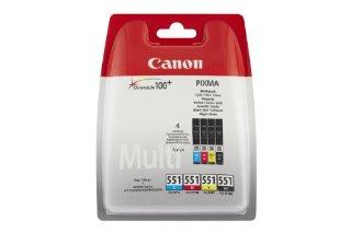 Canon 6509B008 Confezione 4 Serbatoi Inchiostro Blister CLI-551, Nero/Ciano/Magenta/Giallo