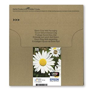 Epson Claria Home Ink Cartucce, Serie 18, Confezione de 4 Colori
