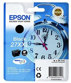 Epson Durabrite Ultra Ink Cartucce, Serie 27XXL, Nero
