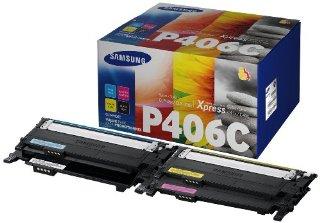 Samsung CLT-P406C/ELS Confezione 4 Toner, Nero/Ciano/Magenta/Giallo