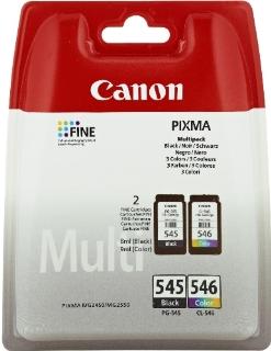 Canon 8287B006 Confezione 2 Cartucce Inkjet Standard PG-545/CL-546, 8 ml Ognuno, Nero/Colore
