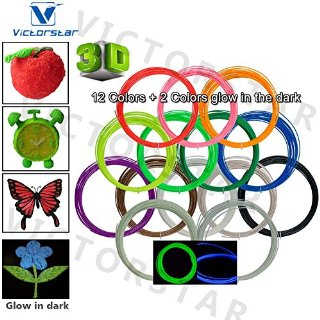 Victorstar @ Pen 3D Filamento Ricariche / ABS 1,75 Millimetri / 32,8 Piedi (10 metri) ogni Colore