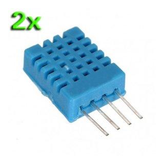 SODIAL (R) 2X DHT11 sensore sonda digitale di umidita' e temperatura per HVAC Arduino PIC