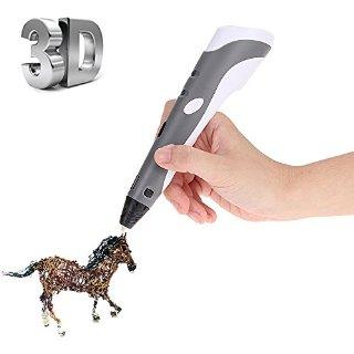 Foxpic 3D Pen Penna Intelligent 3D, Penna-stampante 3D, Penna Tridimensionale con Supporto di Sicurezza, con Filamenti