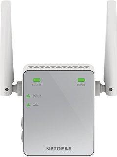 Netgear EX2700-100PES N300 Mbps WiFi Range Extender Universale, 1 Porta Fast Ethernet, Antenne Esterne, Argento