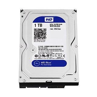 WD WD10EZEX Blu Hard Disk Desktop, 7200 RPM, SATA 6 GB/s, 64 MB Cache, 3.5