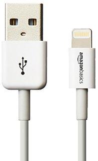 AmazonBasics - Cavo Lightning su USB, con certificazione Apple, lunghezza 0,9 m, colore: bianco