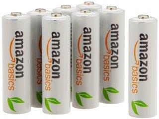 AmazonBasics - Pile Ricaricabili Stilo AA Ni-MH, precaricate, 1000 cicli (tipico 2000 mAh/minimo 1900 mAh), confezione da 8 pezzi