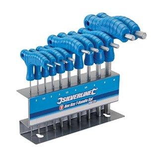 Silverline 323710 - Set 10 brugole con impugnatura a T