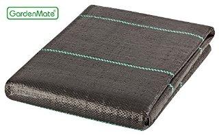 GardenMate®, Telo pacciamante in tessuto di polipropilene 100 gsm, resistente ai raggi UV, 2 x 5 m