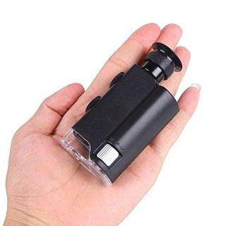 Ohuhu® 200X-240X Microscopio Digitale Tascabile con Luce LED e Luce UV per Rilevare Soldi e Gioielli