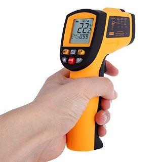 KKmoon Termometro Infrarosso Digitale Senza Contatto Laser IR Infrared Thermometer -50-700