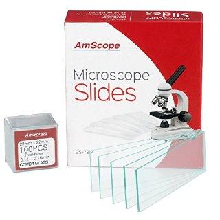 72-Vetrini da microscopio vuoti, puliti e 100, 22 x 22 mm, quadrata, in vetro
