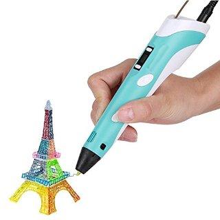 Gearmax® 3D stereoscopico stampa Pen stampante-Per disegno 3D + modellazione + Arte + Crafts stampa(Blu)