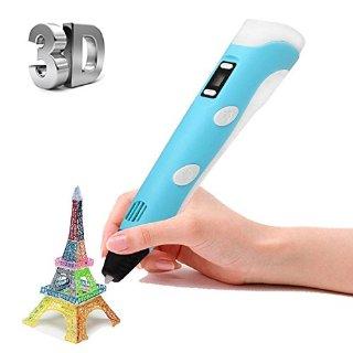 Ohuhu® Penna Stampante 3D Printer Pen con LCD Schermo + 3 Bobine di 10m 1,75 mm PLA Filamento Gratuito
