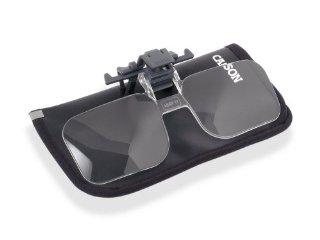 Carson Clip & Flip - Lenti di ingrandimento per tutti i tipi di occhiali, 2 x, + 4 diottrie