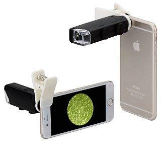 Neewer  Micro Zoom Ottico con Luce LED 60X-100X per iPhone 6S, Samsung Galaxy S5, con attacco universale a molletta