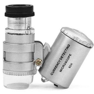 Microscopio per ingrandimento con luce TRIXES, mini lente di ingrandimento per gioielli 60x