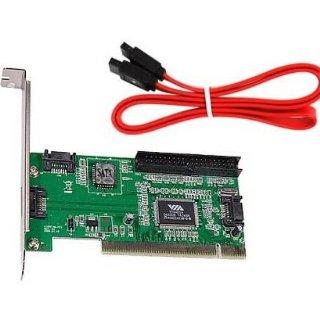 SODIAL (R) 4 porte SATA PCI Scheda di espansione & IDE VIA VT6421a chipset