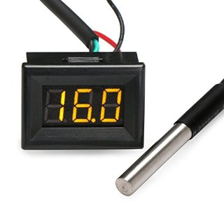 DEOK -55-125 ¡æ di Temperatura di Misura LED Termometro Digitale Temp Sensore DS18b20