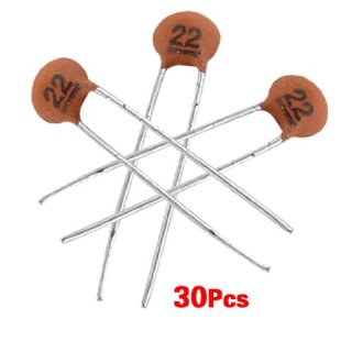 TOOGOO(R) 30 x 22pF 50V DC Condensatori ceramici a bassa tensione DIP