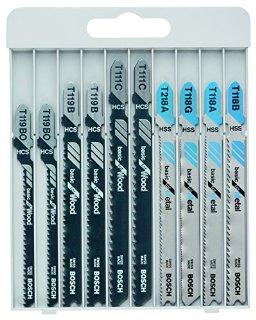 Bosch 2607010630 Set 10 Lame Seghetto, Legno/Metallo