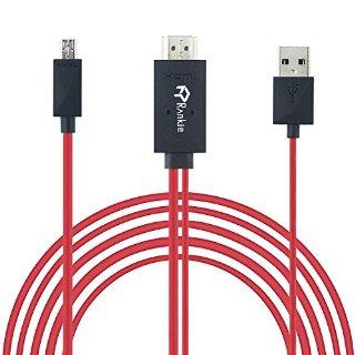 Micro USB a HDMI, Rankie® 6.5 piedi MHL Micro USB a HDMI 1080P HDTV Cavo Adattatore USB integrato Cavo di Ricarica per Samsung Galaxy S3/S4/S5, Note 2, Nota 3, Note 8.0, Note 10.1, e altri MHL-enabled smart Phones