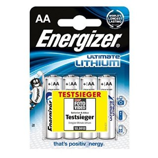 Energizer 639155 Batteria stilo a litio Ultimate Lithium, AA, 1.5V, 3000mAh, 4 pezzi