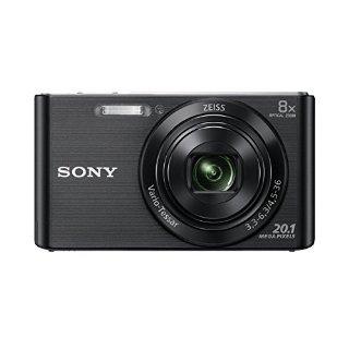 Sony DSC-W830 Fotocamera Digitale Compatta Cyber-shot, Sensore Super HAD CCD da 20,1 Megapixel, Obiettivo ZEISS Vario-Tessar con Zoom Ottico 8x, Nero