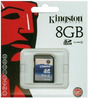 Kingston SDHC Secure Digital Scheda di memoria 8 GB Class 4 (Confezione originale)