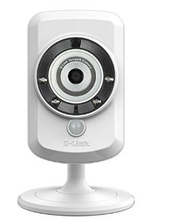 D-Link DCS-942L Videocamera di Sorveglianza Cloud, Wireless N, Visore Notturno, Rilevatore di Movimenti e Suoni, MicroSD Card Inclusa, Notifiche Push per iPhone/iPad/Smartphone, Bianco