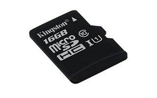 Kingston SDC10G2/16GBSP Scheda MicroSD da 16 GB, Classe 10, UHS-I, 45 MB/s, senza Adattatore SD, Nero