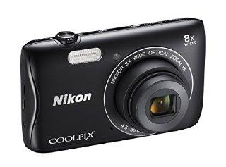 Nikon Coolpix S3700 Fotocamera Digitale Compatta, 20 Megapixel, Zoom 8X, 3200 ISO, LCD 2,7
