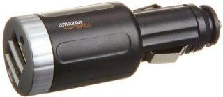 AmazonBasics - Caricatore da auto, 2 porte USB, con output 2.1 amp, colore: Nero