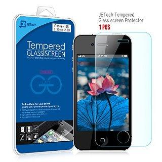 JETech® iPhone 4 Pellicola Protettiva ultra resistente in vetro temperato Screen Protector Film per Apple iPhone 4/4S