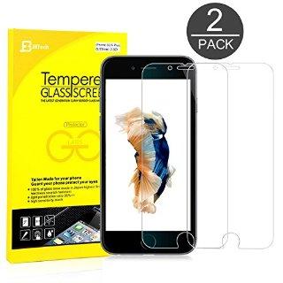iPhone 6s Plus Pellicola Protettiva, JETech® 3D Toccare Compatibile 2-Pack iPhone 6/6s Plus Screen Protector Pellicola Protettiva Temperato di vetro per Apple iPhone 6/6s 5.5 Inch